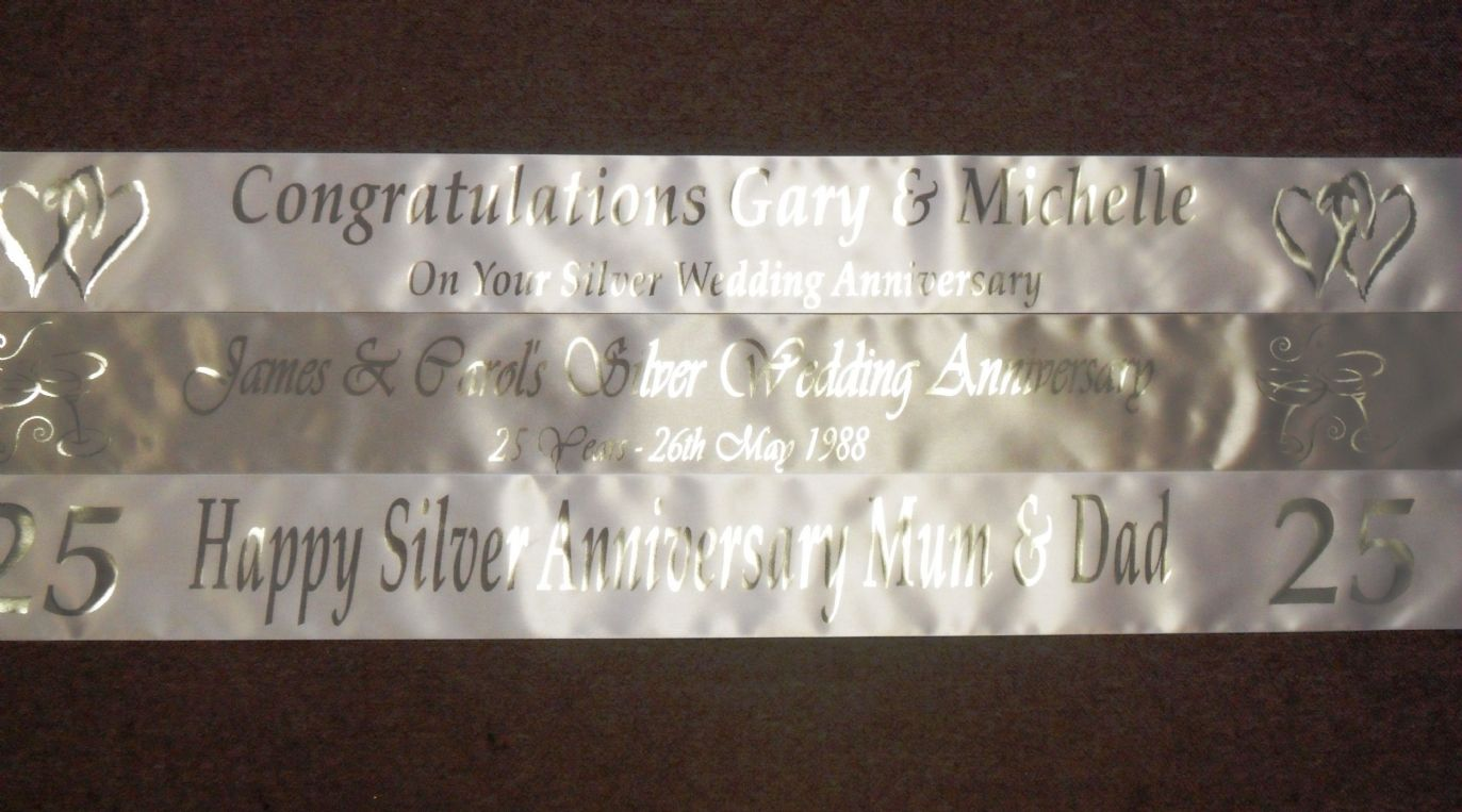 Silver Wedding Anniversary Banners - The Best Banner 2017