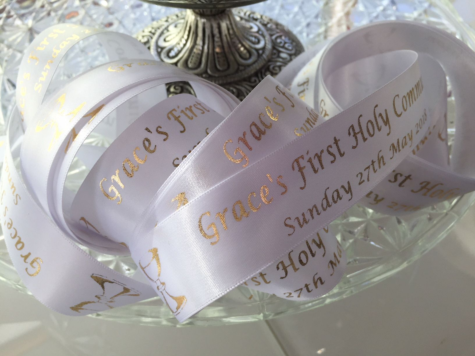 First Holy Communion Personalised Cake Ribbon