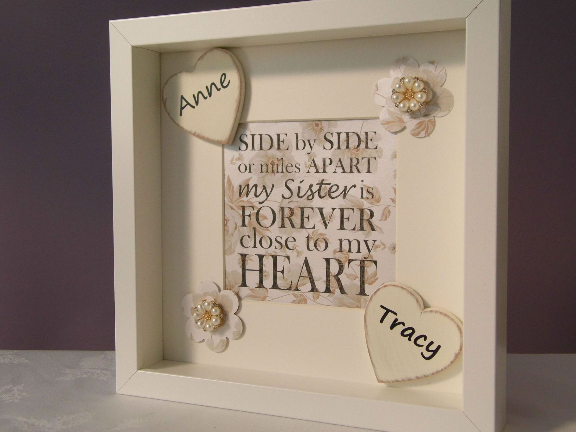 Personalized Wedding Photo Frames Uk : Personalised Sister Gift Frame