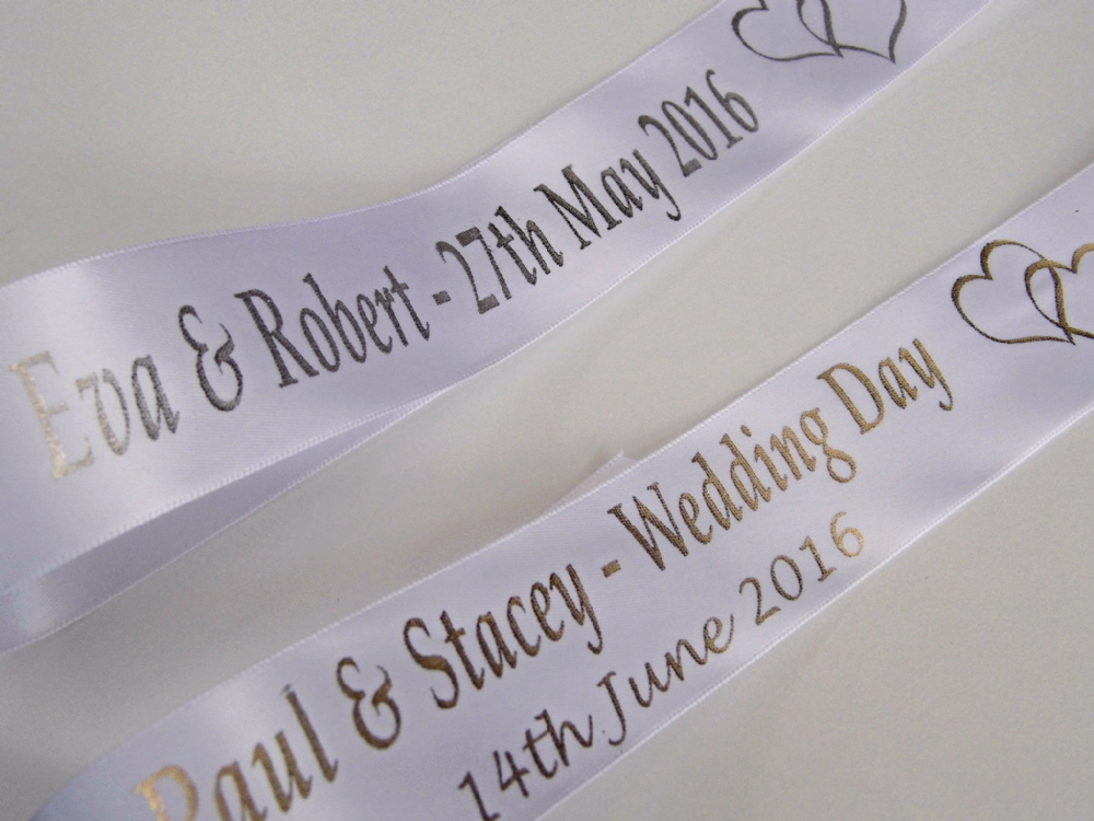 Personalised Wedding Gift Ribbon : Personalised Wedding Car Ribbon