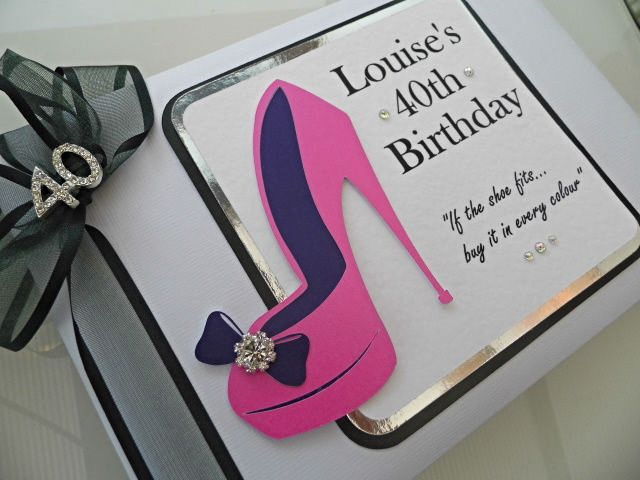 40th birthday party guest book stiletto shoe