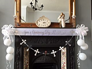 Baby's Christening Personalised Decorations
