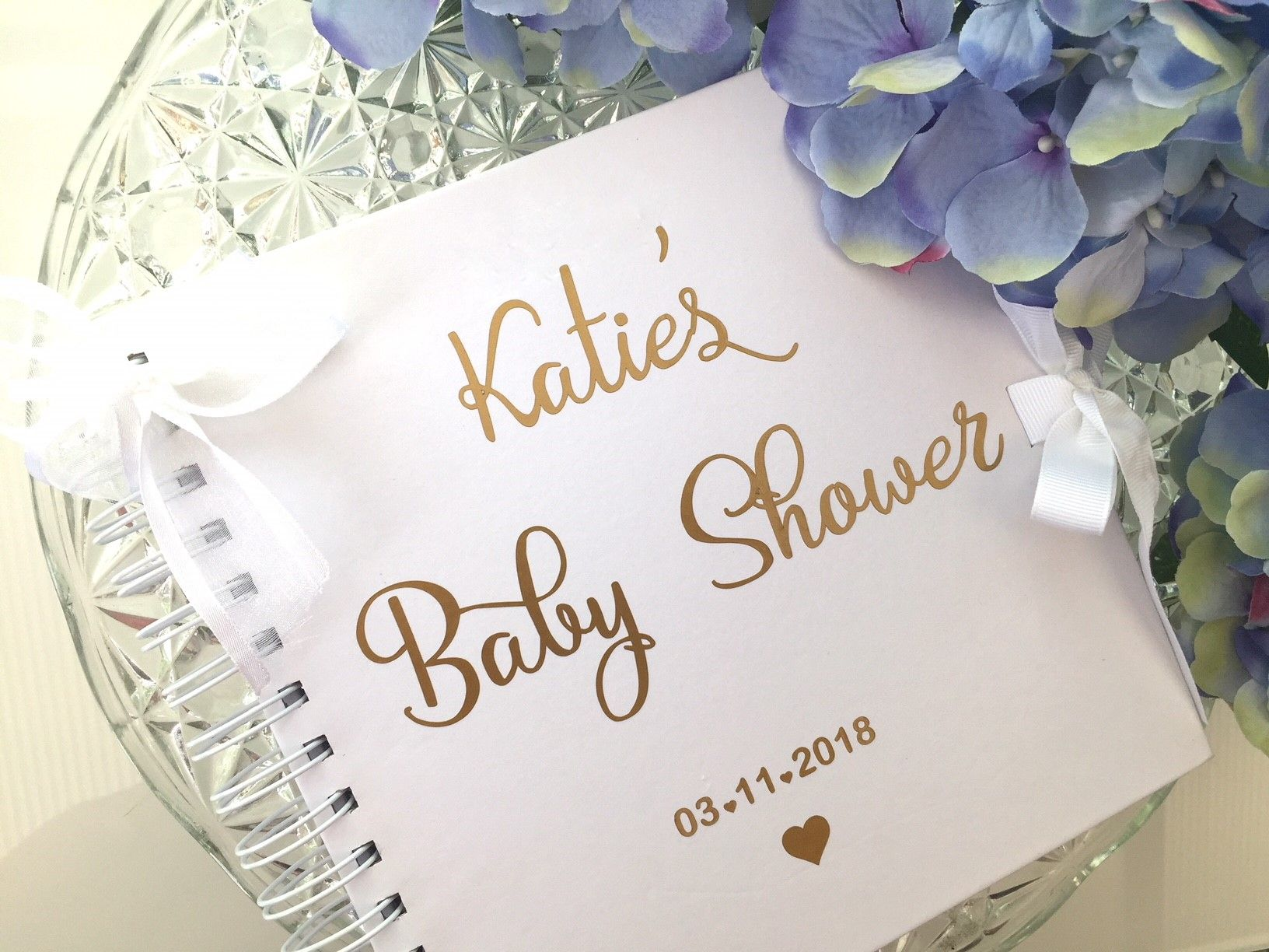 Baby Shower Guest Book Gold