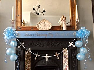 Boy's Christening Decoration - Blue