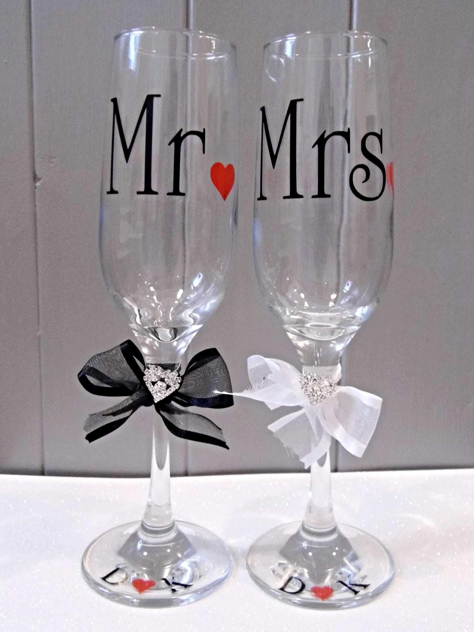 Mr Amp Mrs Champagne Flutes