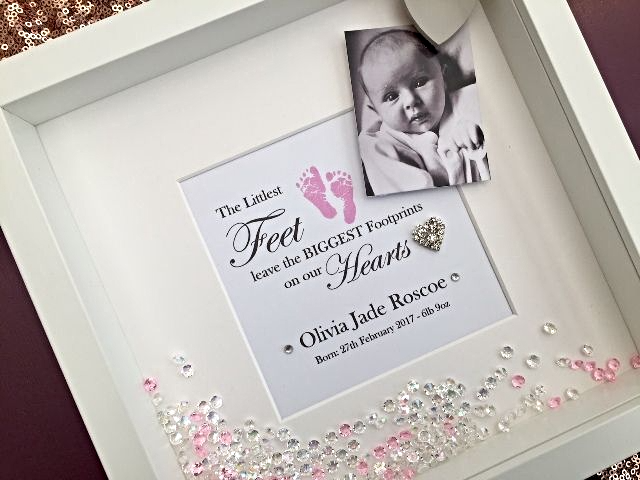Personalised Baby Girl Photo Frame
