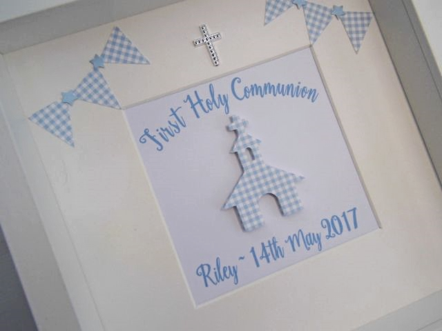 Personalised Boy's First Holy Communion Gift Frame