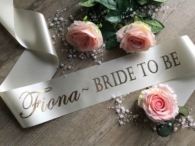 Personalised Bride To Be Sash