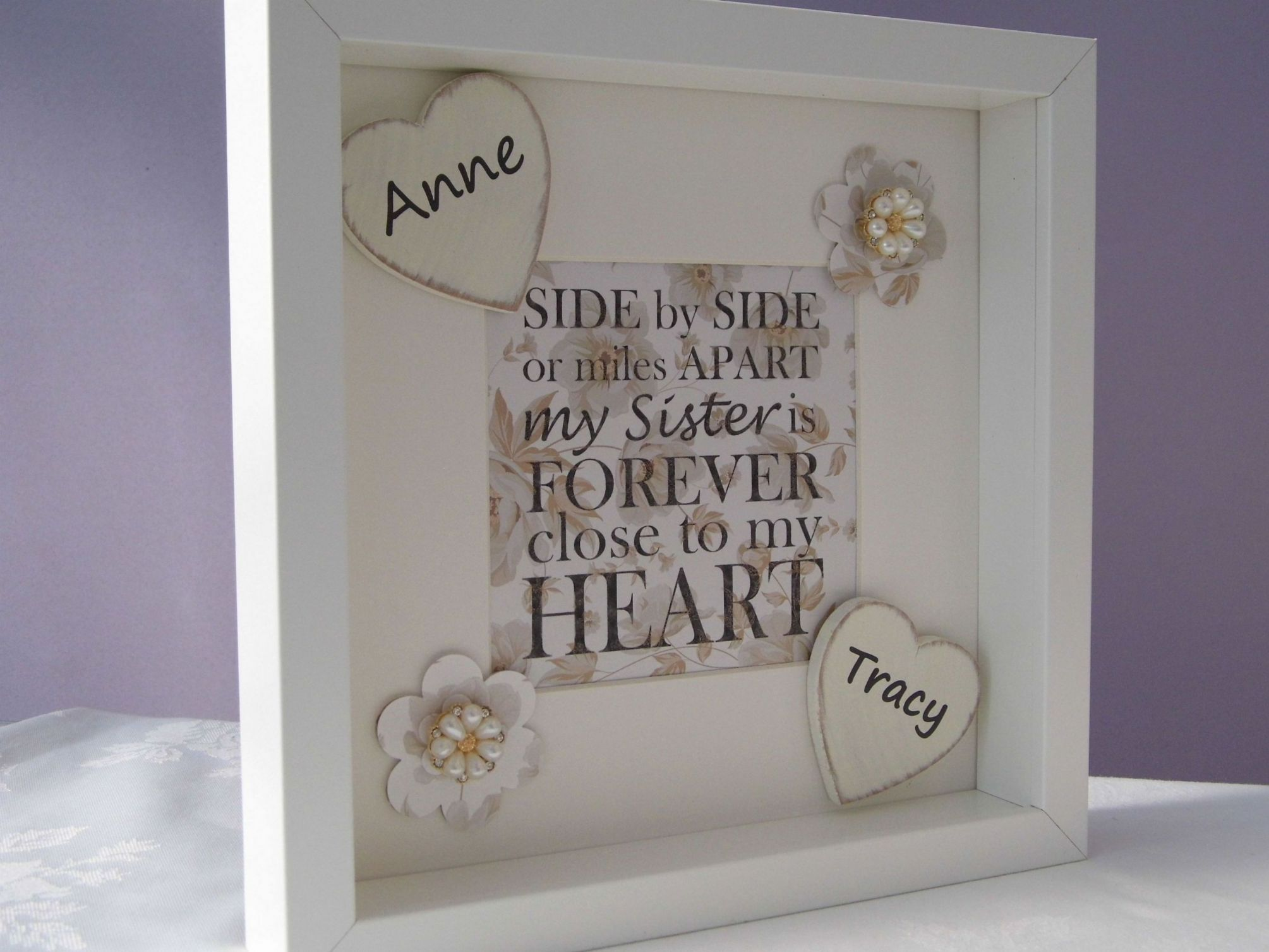 Perfect Wedding Gift For Sister: Personalised Sister Gift Frame