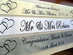 Personalised Wedding Banner