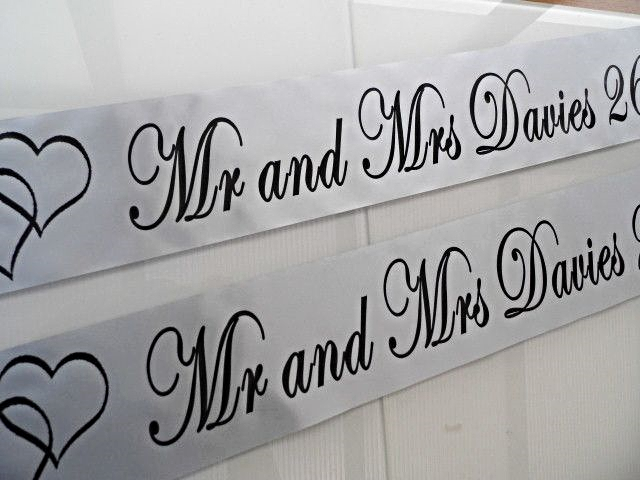 Personalised Wedding Banner - Silver